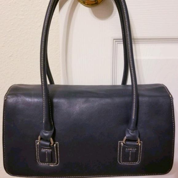 Liz Claiborne Handbags - Vintage Navy Blue sheets Liz Claiborne
